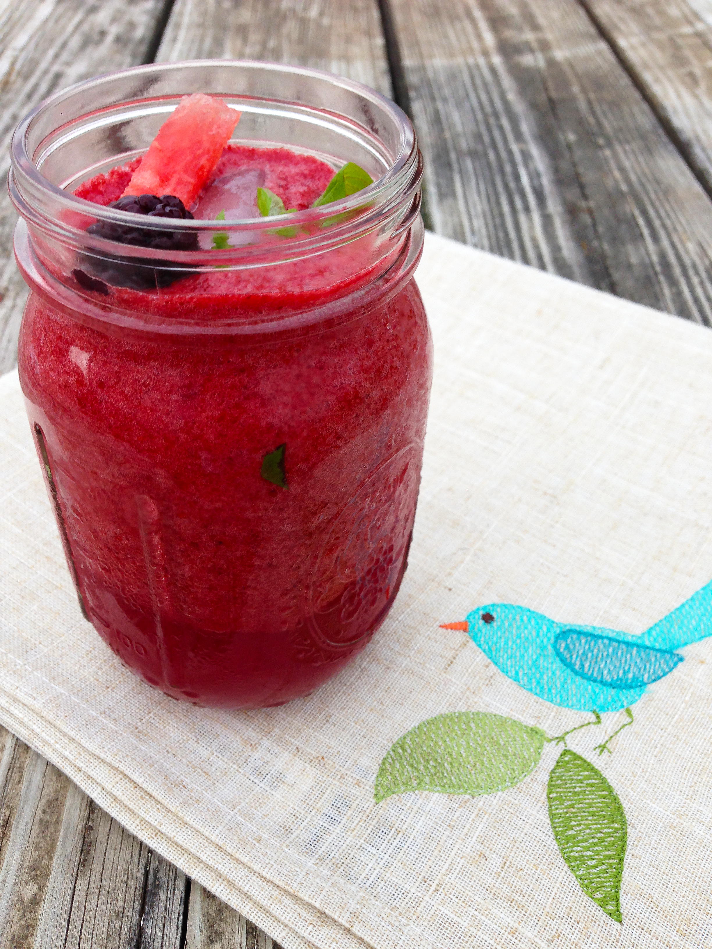Watermelon Blackberry Mojito Smoothie #1